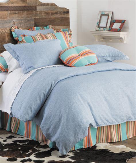 chambray comforter western chambray bedding southwest bedding comforter