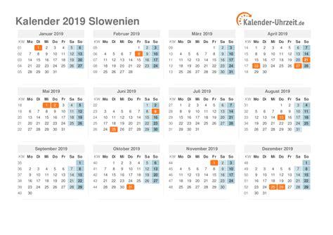 feiertage  slowenien kalender uebersicht