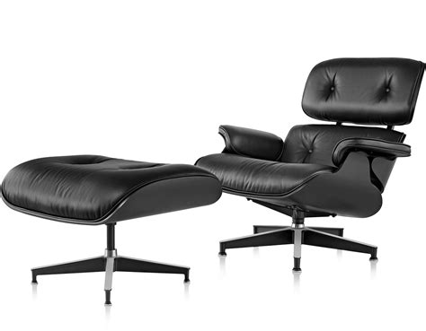 lounge bench seating ebony eames 174 lounge chair ottoman hivemodern com