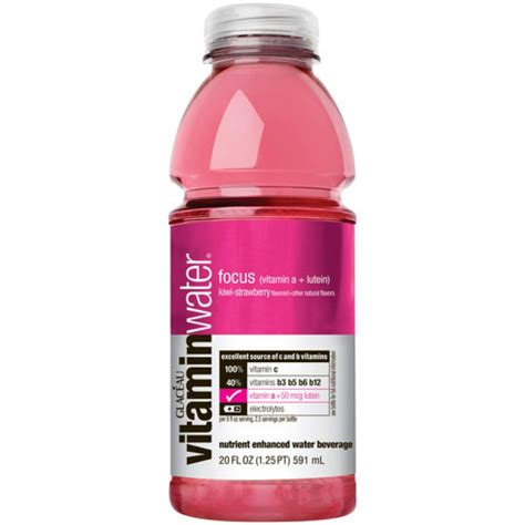 Vitamin Water Strawberry Glaceau Vitamin Water Focus Kiwi Strawberry