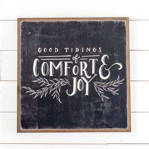 good tidings of comfort and joy quot good tidings quot sign christmas decor magnolia christmas