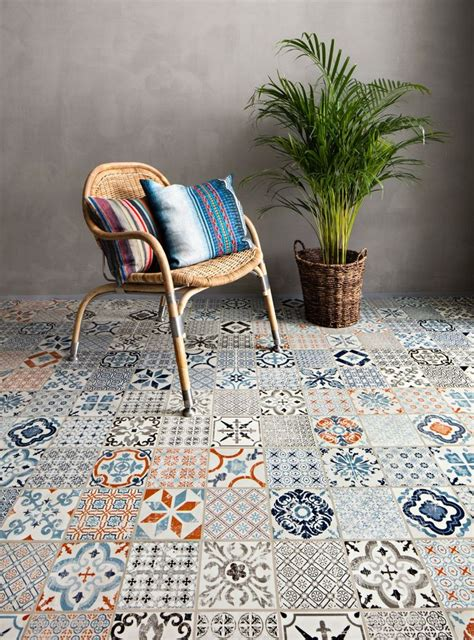 mosaic pattern vinyl flooring mosaic patterned click vinyl flooring from tarkett