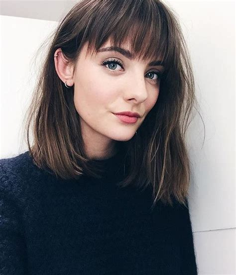 medium haircuts with fringe 2017 234 best medium hairstyles 2017 images on