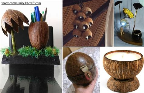 coconut craft for 8 most creative coconut shell crafts craft community