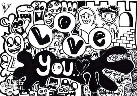 doodle lucu pin pin kata lucu cinta on on