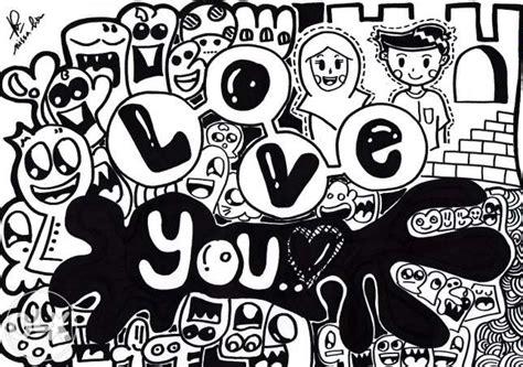 doodle unik pin pin kata lucu cinta on on
