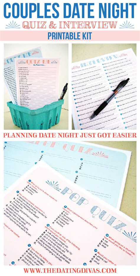 printable relationship quizzes for couples couples quiz and interview date night printable kit