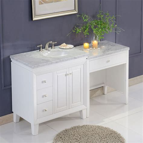 Marble Top Vanity Bathroom by 67 Inch Transitional Bathroom Vanity White Finish Marble