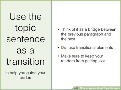 Exle Of A Topic Sentence For An Essay by How To Write A Topic Sentence With Sle Topic Sentences