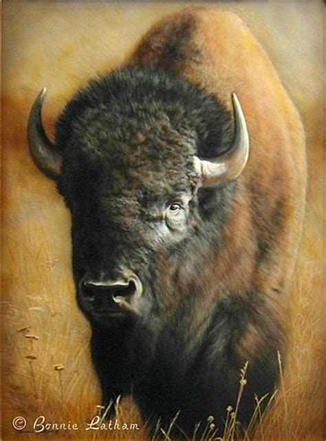 bison painting art by bonnie latham