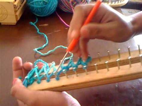 mi como hacer una bufanda en telar