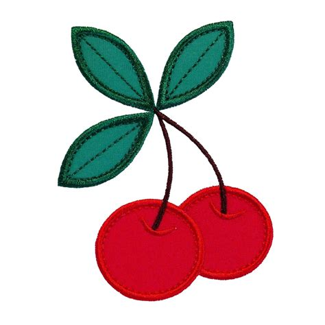 embroidery and applique designs cherries applique machine embroidery design