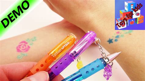 tattoo pen youtube glitter tattoo pens how to make your own glitter tattoo