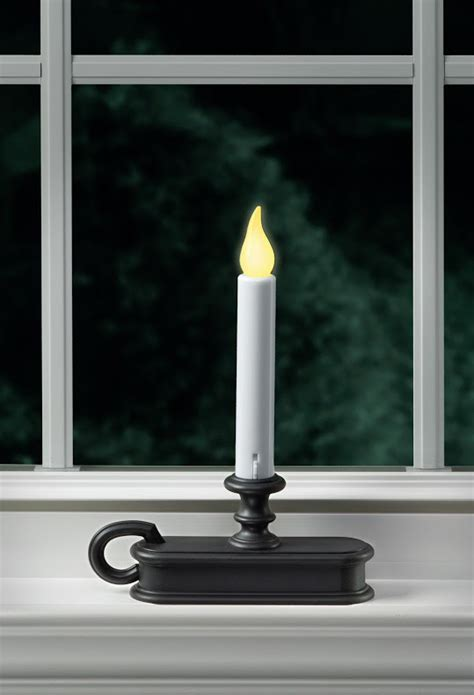 traditional battery operated window candle aged bronze