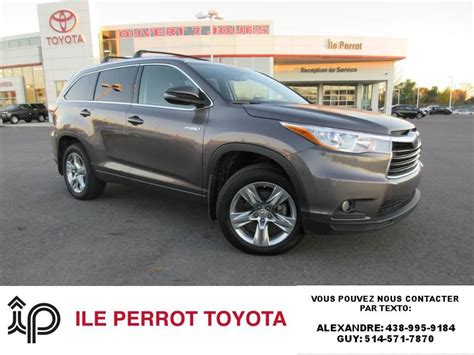 used toyota highlander hybrid used 2015 toyota highlander hybrid for sale in pincourt