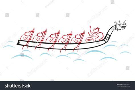 dragon boat drawing dragon boat race team vector illustration stock vector