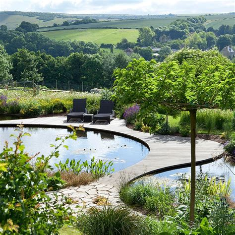 Garten Terrasse Holz 913 by Ian Kitson Landscape Architect Swimming Pool With
