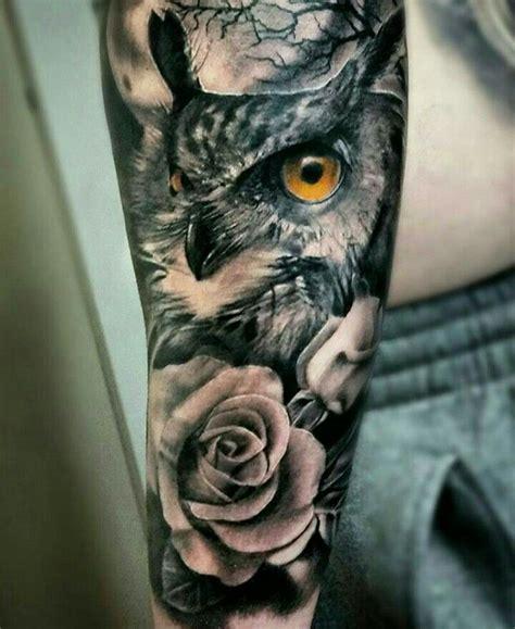 angry owl sleeve tattoos  rose golfiancom
