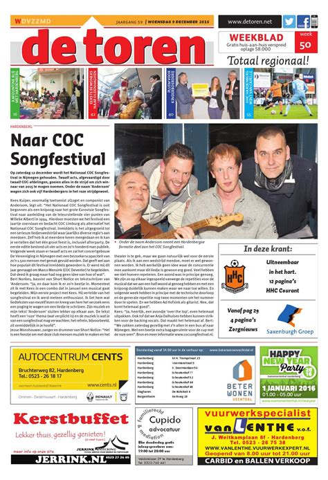 De Toren Week 50 2015 By Weekblad De Toren Issuu by De Toren Week 50 2015 By Weekblad De Toren Issuu