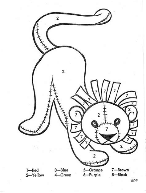 lion color by number coloring pages color of a lion coloring home