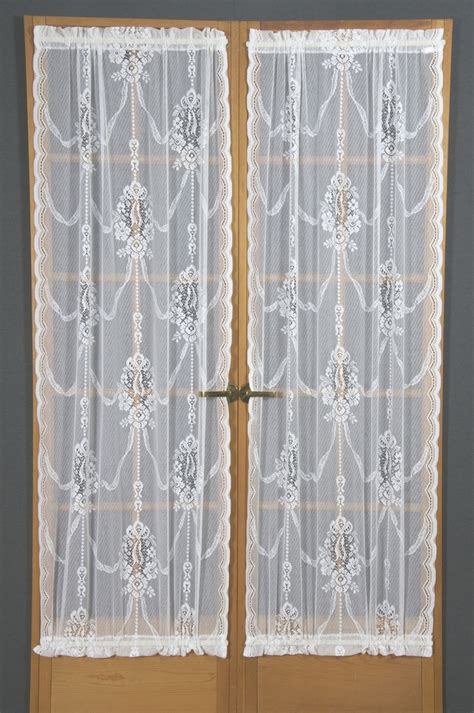 lace door panel curtains american balmore sheer lace door panels curtain shop