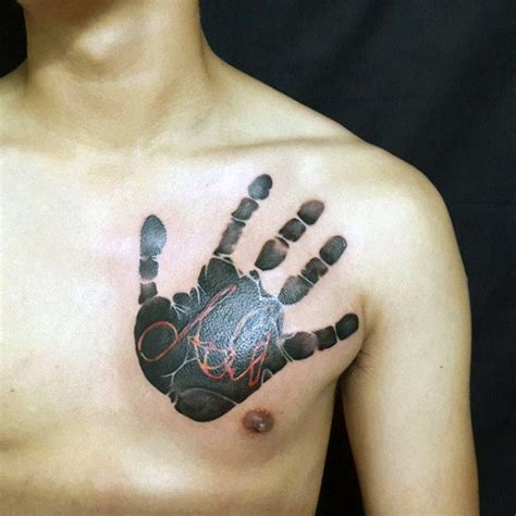 60 handprint tattoo designs for men impression ink ideas