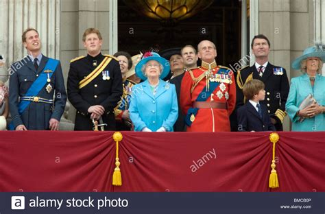 members of the royal family the and members of the royal family on the balcony