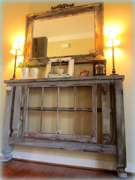 Thin Entryway Table A Narrow Table With Another Repurposed Window Projects Foyer Tables Foyers