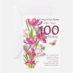 100th birthday greeting cards thank you cards and custom cards cafepress