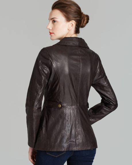 rugged leather jackets marc new york leather jacket rugged in brown lyst