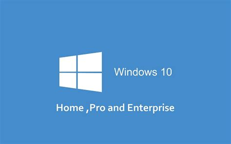 difference between windows 10 home pro and enterprise