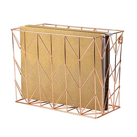 gold desk organizer u brands hanging file desk organizer wire metal copper