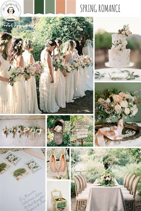 a romantic spring wedding inspiration board chic vintage