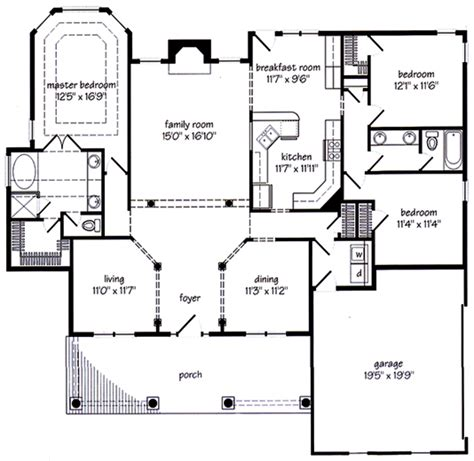 Custom Floor Plans For New Homes by New Albany Cottage Floor Plans For New Homes Home