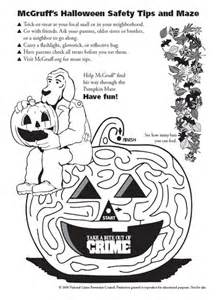 4 best images of halloween safety coloring sheets