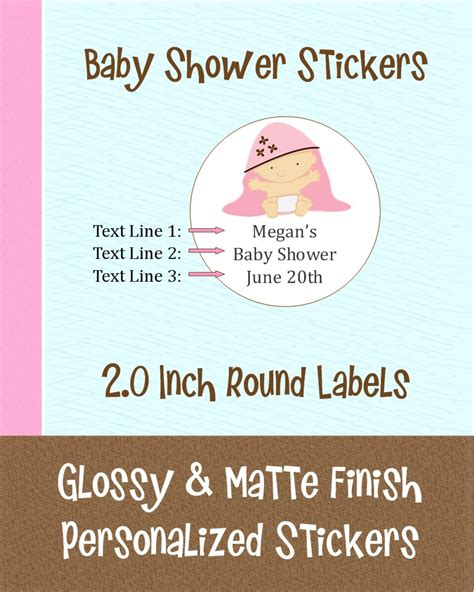 Baby Shower Label Stickers by 20 Personalized Baby Shower Sticker Labels