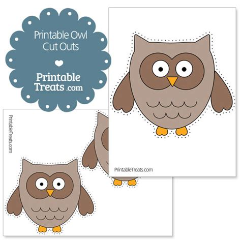 printable owl shapes printable owl cut outs printable treats com