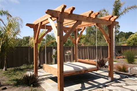 Ballard Design Daybed pergola and swing bed