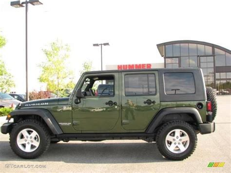 2008 jeep green metallic jeep wrangler unlimited rubicon 4x4 17199177 gtcarlot car