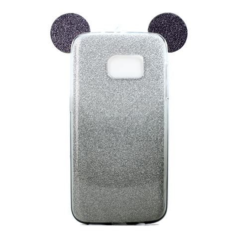 Softcase Cover Soft Casing Samsung Galaxy S7 Edge 1 minnie bow glitter shiny soft neck cover for