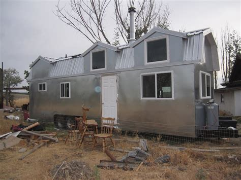 metal tiny house a mostly metal tiny house on wheels