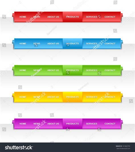 design menu horizontal colorful folded paper panel bars suitable for horizontal