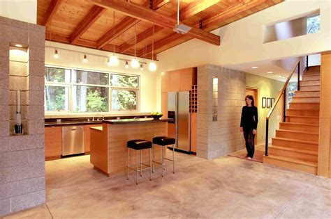 Kitchen Cabinets Seattle by Elegant Cinder Blocks Mode Seattle Contemporary Kitchen