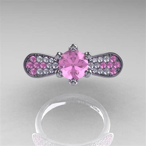 14k white gold 1 0 ct light pink sapphire nature