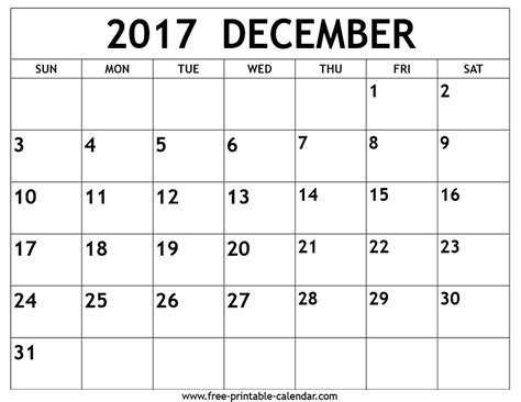 printable monthly calendar for december december 2017 calendar printable printable calendar 2017