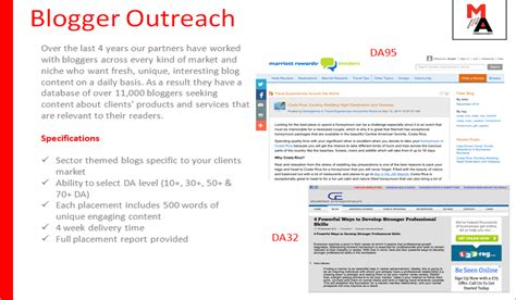 blogger outreach new link building service part of offsite optimisation
