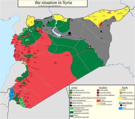 syria map of syria revolution syrian civil war 2011