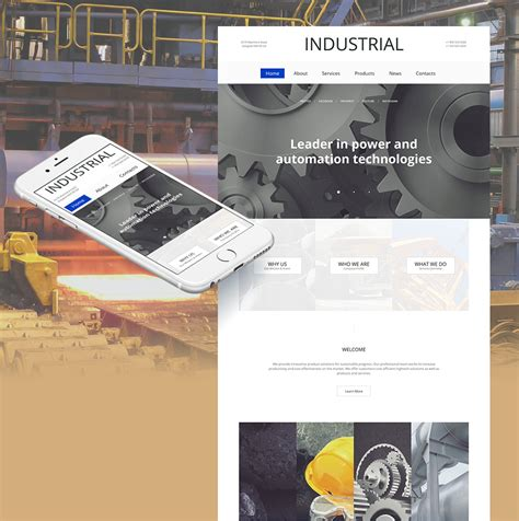 industrial template industrial moto cms html template 59075 by motocms moto