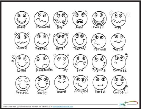 worksheets for preschoolers about feelings feeling faces printable coloring sheet feelings chart