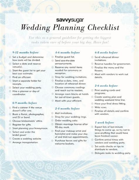 wedding planning checklist love me marry me pinterest